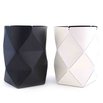 Origami Leather Containers. The Italian leather maestros of Pinetti Design Studio have created innovative and beautiful leather baskets that are folded like origami pieces.  $110.00