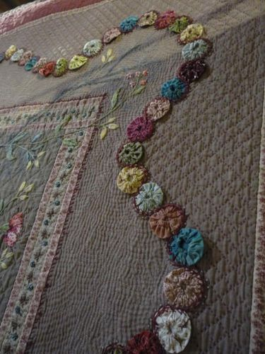 Great idea for border of family quilt