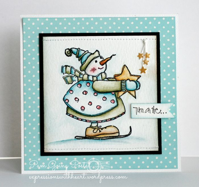Turn on the Twinkle by Pam Sparks #card #scrapbook