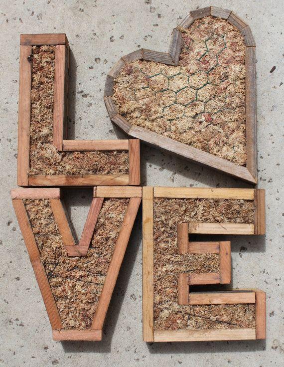 VENTA DIY monograma letra Jardín Vertical por SucculentWonderland