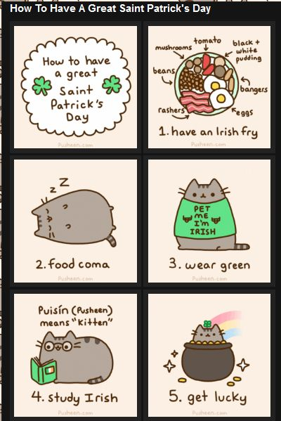 Have a great St Patrick's day with Pusheen !