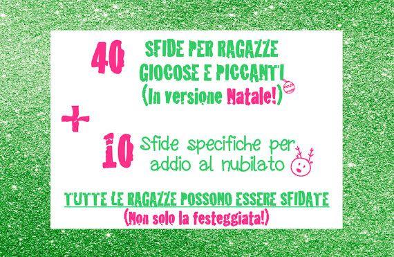 40 Sfide Penitenze Versione Natale  Addio al nubilato natale!