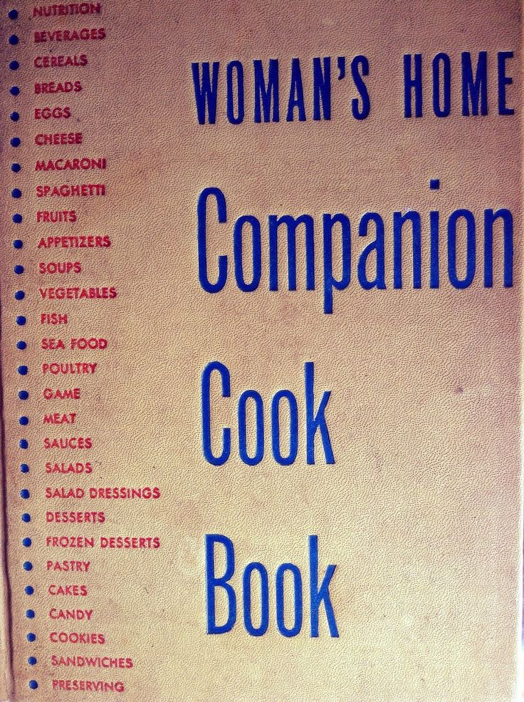 Vintage Recipe Book - Woman's Home Companion Cook Book