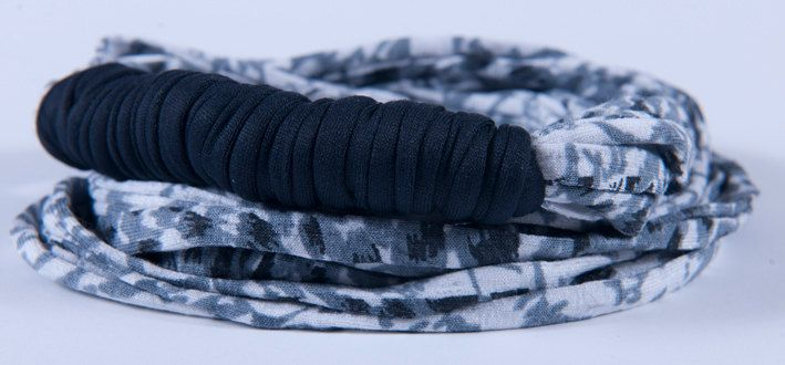 black & grey noodle scarve - NX_4799