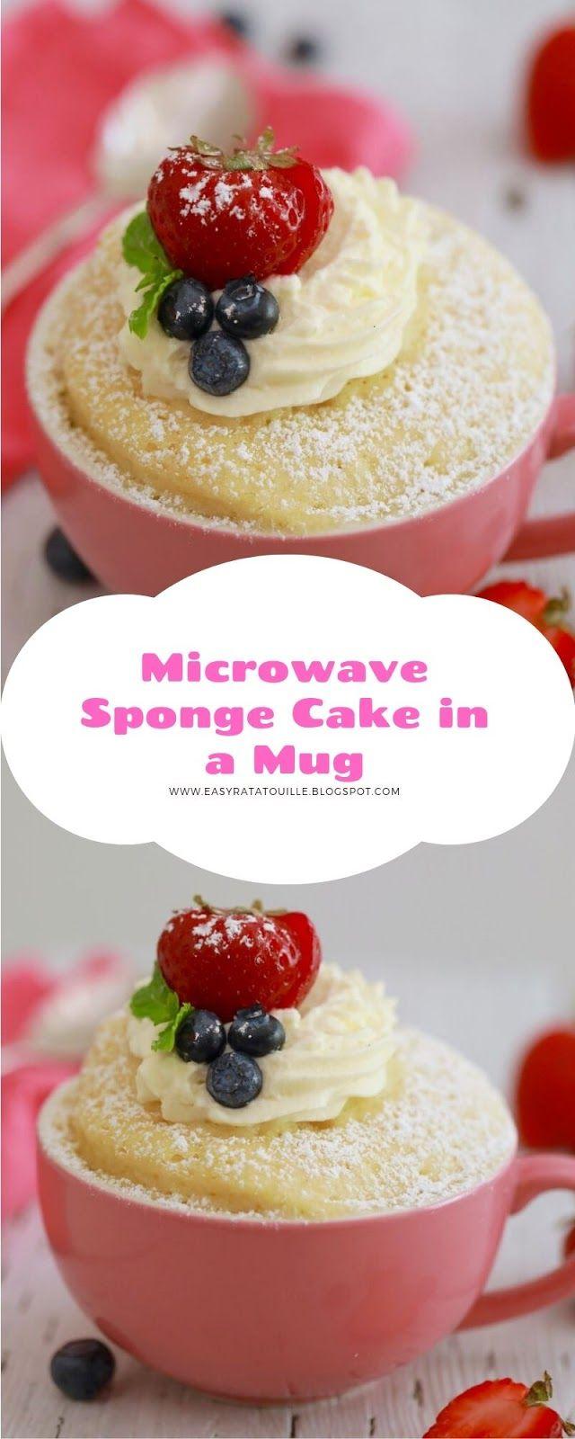 Microwave Sponge Cake in a Mug | Microwave sponge cake ...