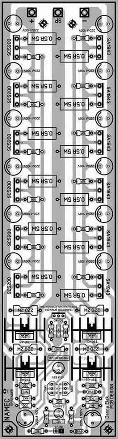 PCB Layout Namec Power Amplifier