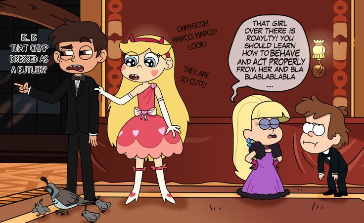 Some weeks ago an Anon asked for a Starco-Dippica crossover, and I delivered. I always deliver. Usually with weeks, months, even years of delay.  And I deliver a defective product, since there is absolutely no romance in this pic. Sorry, Anonymous...