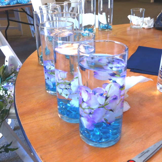 39 best images about centerpiece on pinterest receptions for Water decoration ideas