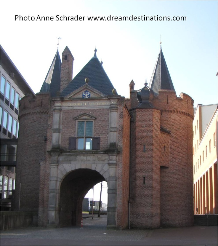 The main entrance gate of the old city of Arnhem, Netherlands. Like many medieval cities, the city was protected by walls that surrounded the whole city.