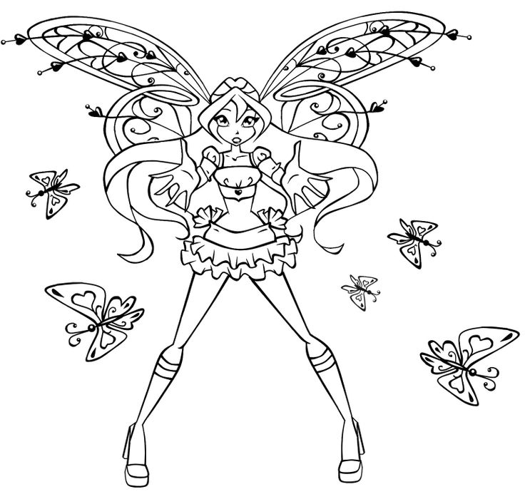 28 Best Winx Club: Coloring Pages Images On Pinterest