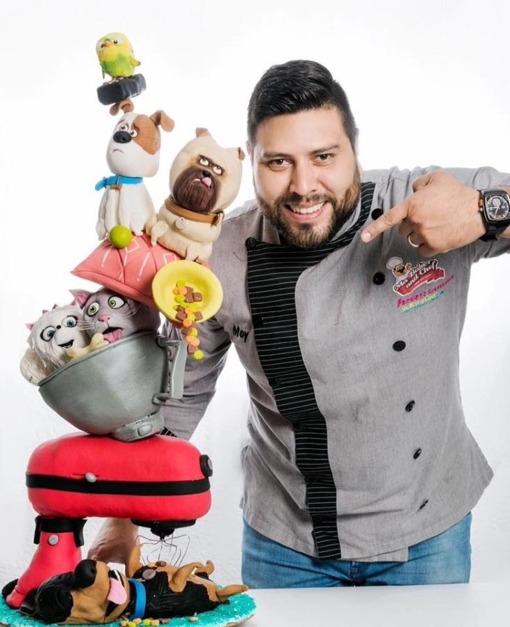 TOWER CAKE LA VIDA SECRETA DE LAS MASCOTAS by Moy Hdz