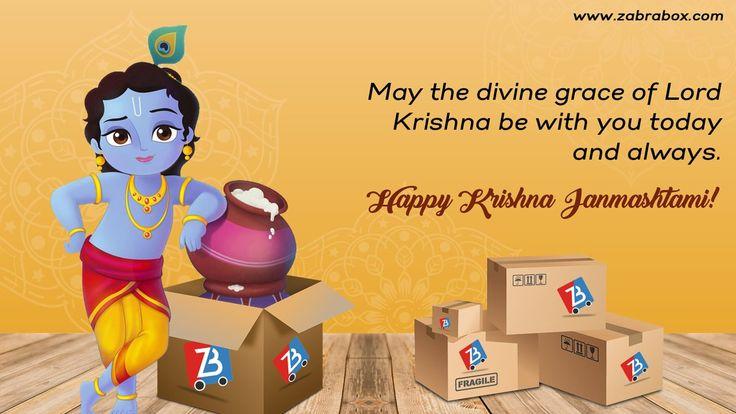 Happy Krishna Janmashtami! May lord Krishna bless you on this auspicious day. #Zabrabox #janmashtami