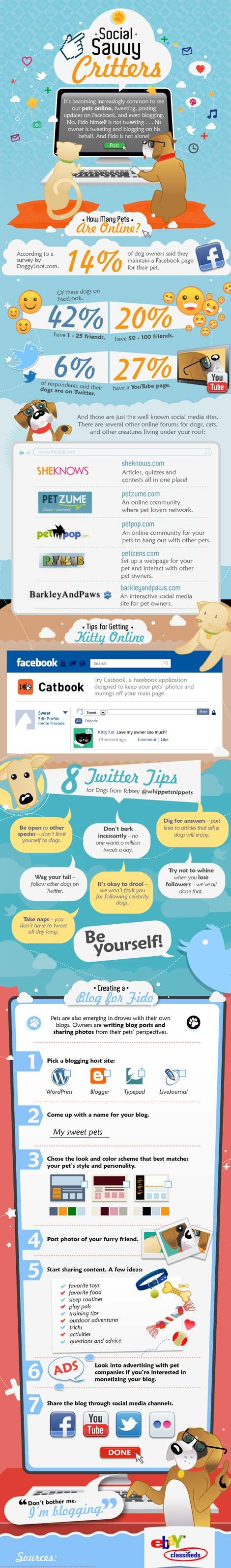 How Many Pets Are Using Social Media? Infographic