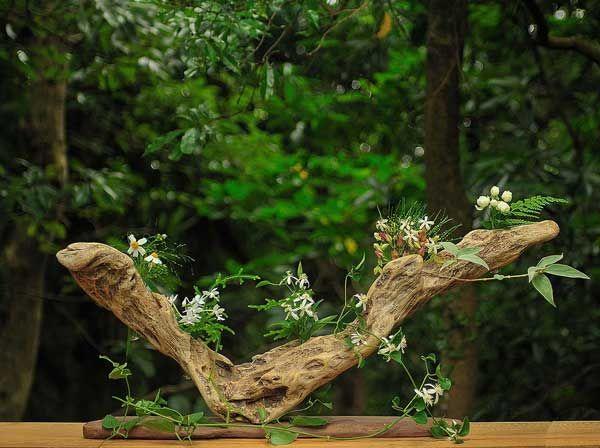 流木の花器 2008-7 ★ #流木 #流木アート #屋久島 #driftwood art #インテリア #Driftwoodvases