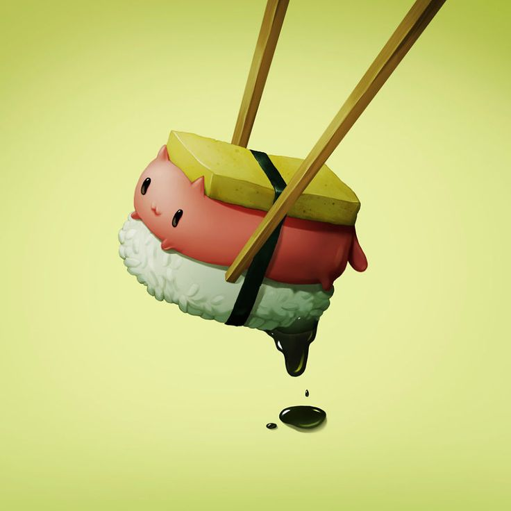 Illustrations Of Food Depicted As Adorable Animals