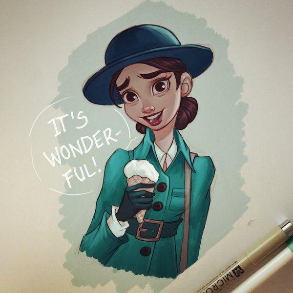 Wonder Woman and Ice Cream by chrissie-zullo
