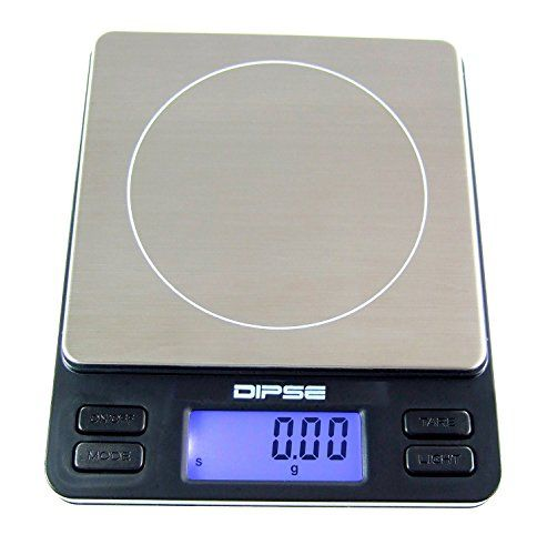 Digitalwaage TP-2000 Feinwaage die in 0,1 g Schritten pr�zise bis 2000g / 2kg wiegt, Taschenwaage, Feinwaage, Goldwaage mit extra-gro�er Wiegefl�che