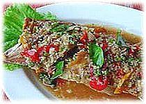 Thai Food : Fried fish with tamarind sauce