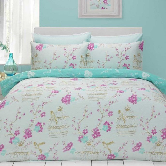 COLEEN VINTAGE BIRDCAGE DUVET SET   Poundstretcher. 44 best Vintage Home images on Pinterest