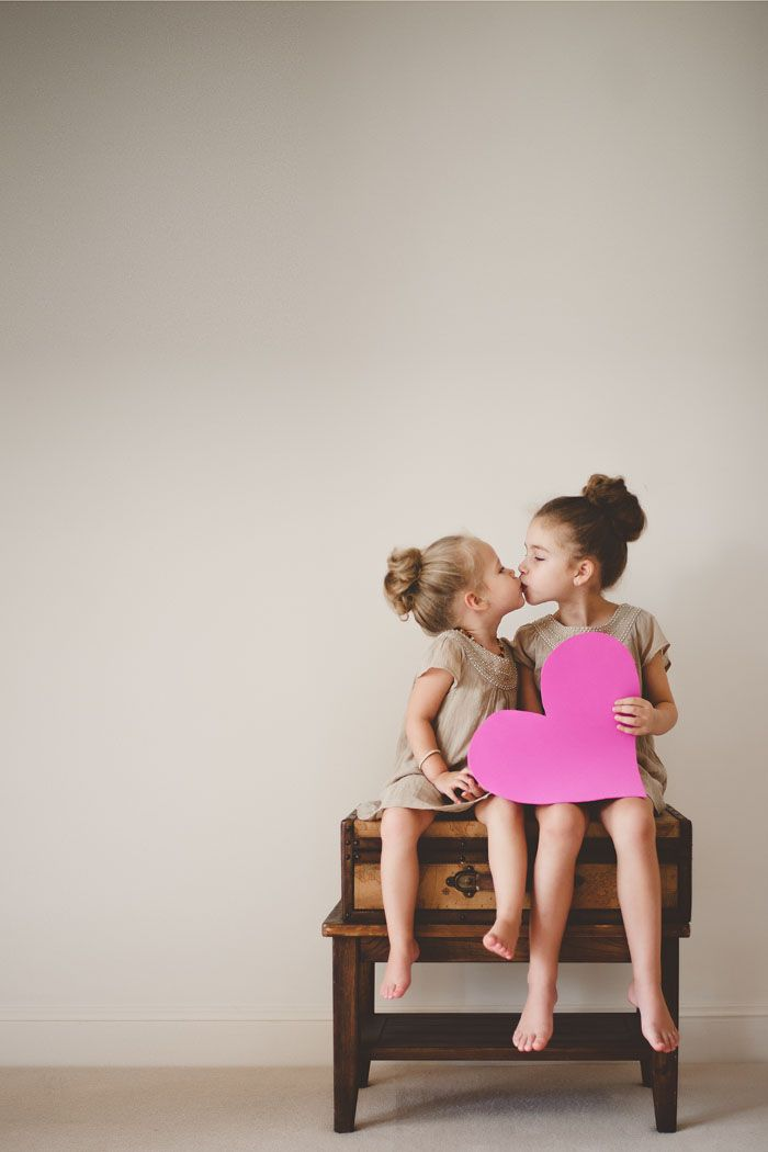 sisters, hopefully I can get a cute picture like this when my girls get a little older!