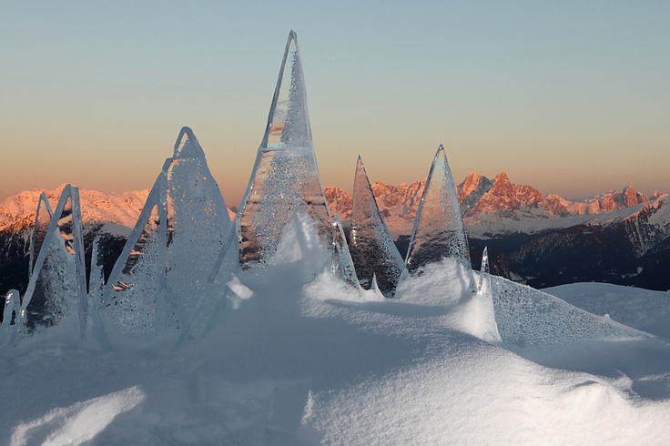 Ice Skyline #Dolomiti opera di #MarcoNones - foto Eugenio Del Pero #Art