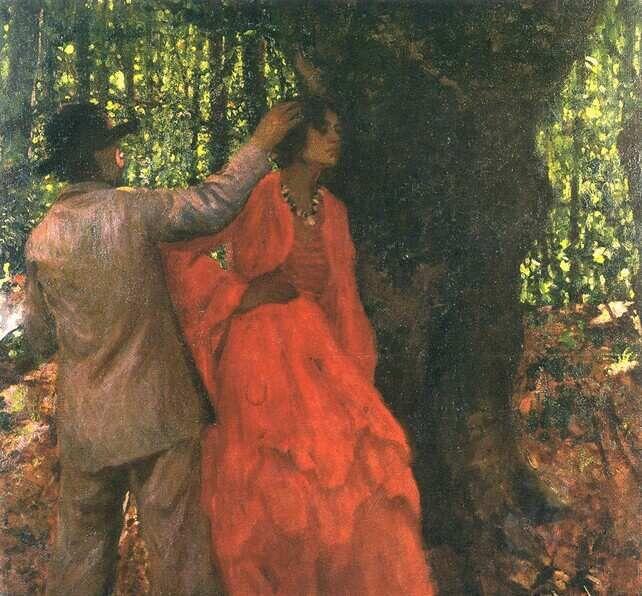 Ferenczy Károly - Festő és modell az erdőben
