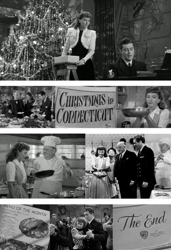 "Christmas in Connecticut--Barbara Stanwyck, Dennis Morgan, ""Cuddles""  Sackall, Sidney Greenstreet.  A lot of fun."