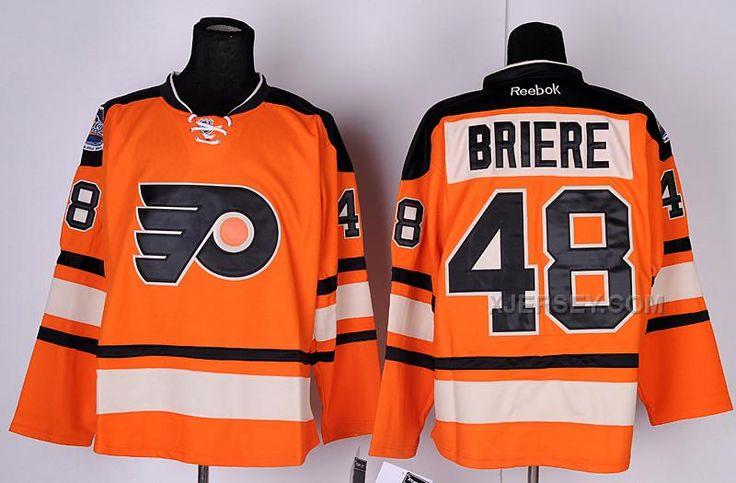 http://www.xjersey.com/flyers-48-briere-orange-jerseys.html FLYERS 48 BRIERE ORANGE JERSEYS Only $46.00 , Free Shipping!
