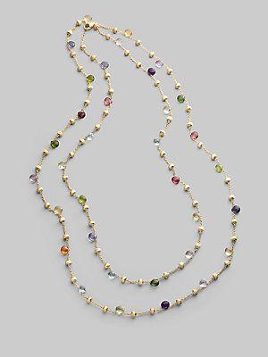 Marco Bicego Multi Gemstone & 18K Yellow Gold Necklace