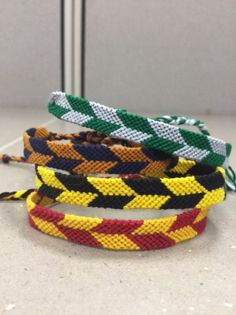 Harry Potter Checkered Friendship Bracelet  by KnotsByTots on Etsy