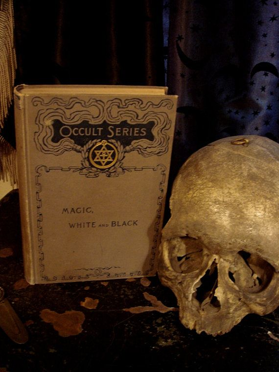 MAGIC WHITE and BLACK Occult Series Rare by GothicRoseAntiques, $295.00