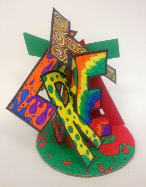 Art visuel : prénom en 3D (pepourlavie)