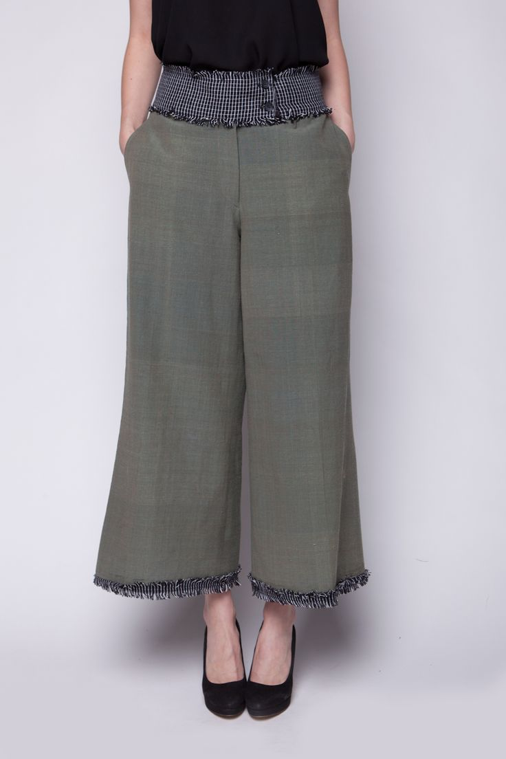 Lekat Wide Pants Hijau