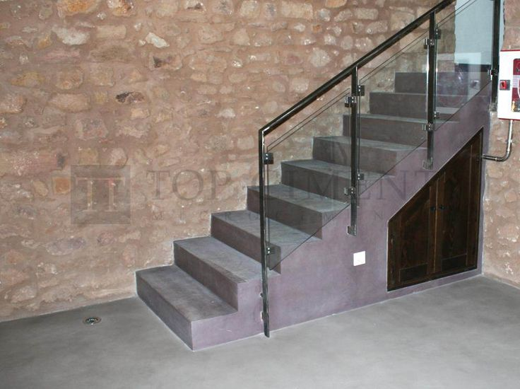 Mejores 20 im genes de escaleras revestidas con - Microcemento para exteriores ...
