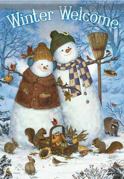 Snow Couple and Friends