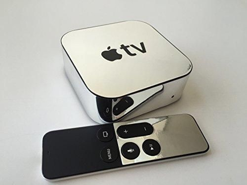 Chrome Skin for 4th Generation Apple TV box and Remote (Apple TV NOT Included!)