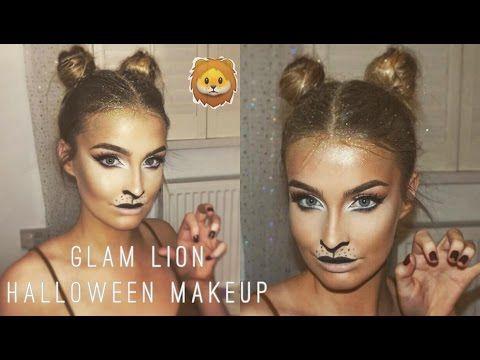 Easy Lion Halloween Makeup & Hair Tutorial 2016   Aoife Conway ❤ - YouTube