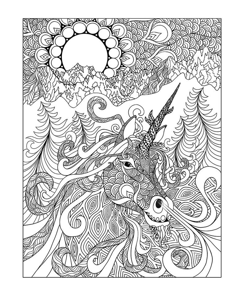 free mystical coloring pages - photo#16