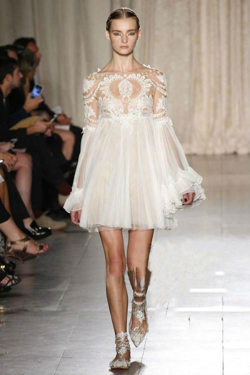 Fashion Woman Slik Short Long Flare Sleeve Mini Lace Dress Slash Neck Silk Ball Gown Dress Evening P from Citychic,$60.49 | DHgate.com