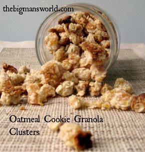 """Oatmeal Cookie Granola Clusters! Awesome!! """"Granola which tastes like a freshly baked oatmeal cookie BUT chock full of healthy ingredients, low sugar and sinfully nutritious? YES!"""""""