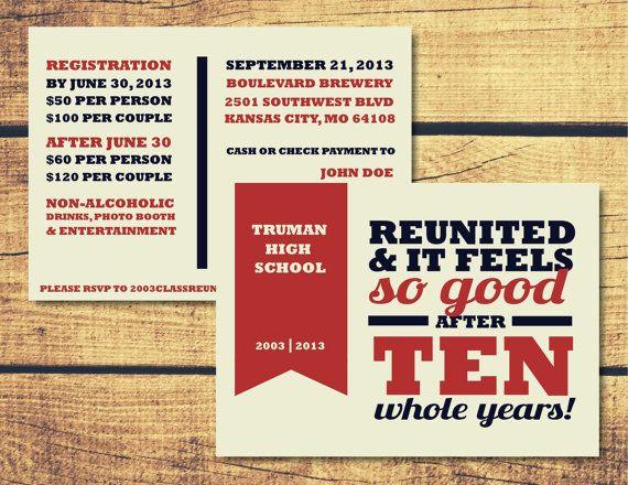 24 best Reunion Ideas images on Pinterest Class reunion ideas - best of invitation letter sample reunion