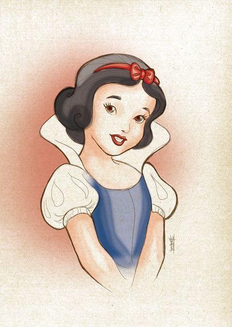 Blanche neige - Disney #sketch #esquisse #dessin  #ideogramme.net