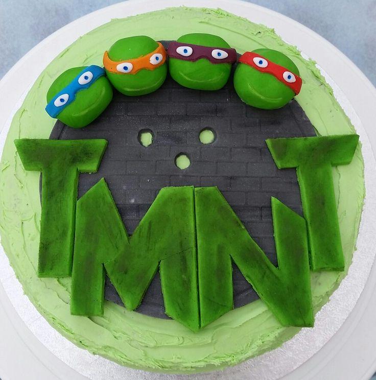 Teenaged mutan ninja turtle cake made for my nieces 5th birthday. i used buttercream to cover.