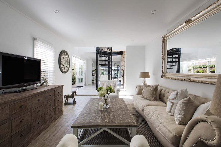 Get the Look! A natural theme with French Dressing's Savoy sofa, Attic sideboard, New England coffee table St Tropez armchairs http://www.frenchdressing.com.au/storefrontprofiles/default.aspx?sfid=98118 215a Darling Street, Balmain