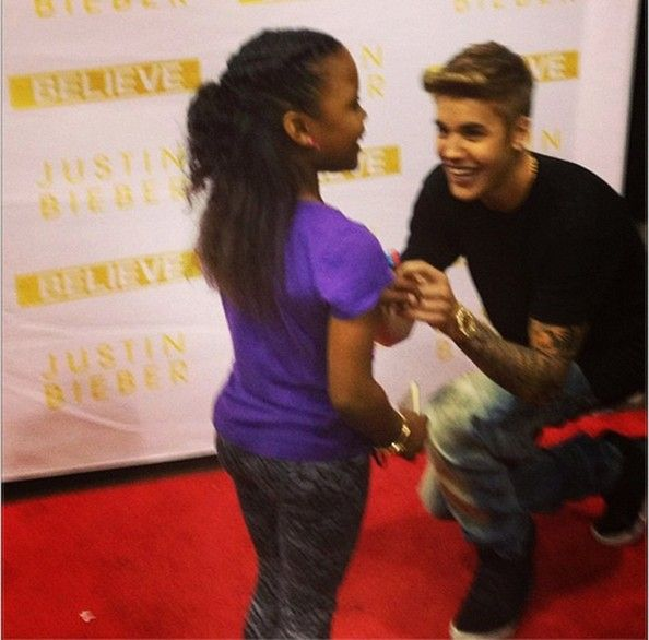 Justin Bieber continues to make wishes come true. In fact, the pop star has become the first recording artist to grant 200 wishes through the Make-A-Wish Foundation, a new record for the organization. The 19-year-old singer reached that milestone upon meeting with Annalysha Brown-Rafanan in Atlanta over the weekend. (August 11, 2013) #Justin #Believe #Charity #Make-A-Wish