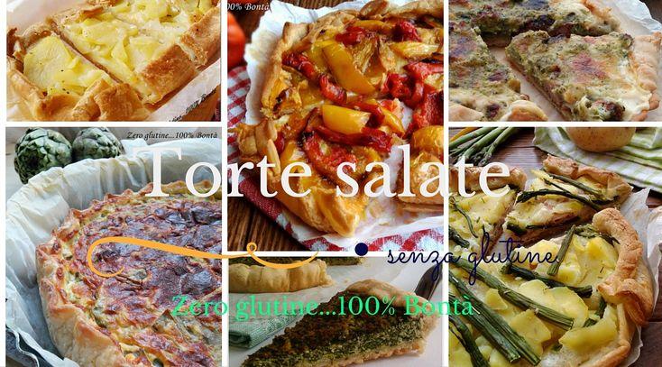 Una raccolta di ricette di Torte salate veloci e senza glutine ,perfette in ogni occasione,e ideali da portare nel cestino da picnic