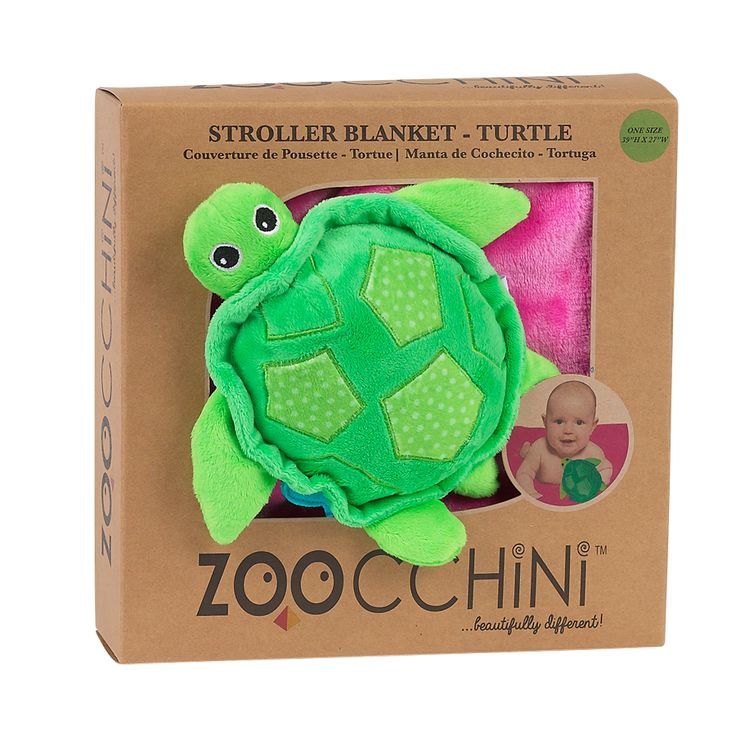BABY BLANKET WITH PLUSH TOY - TURTLE