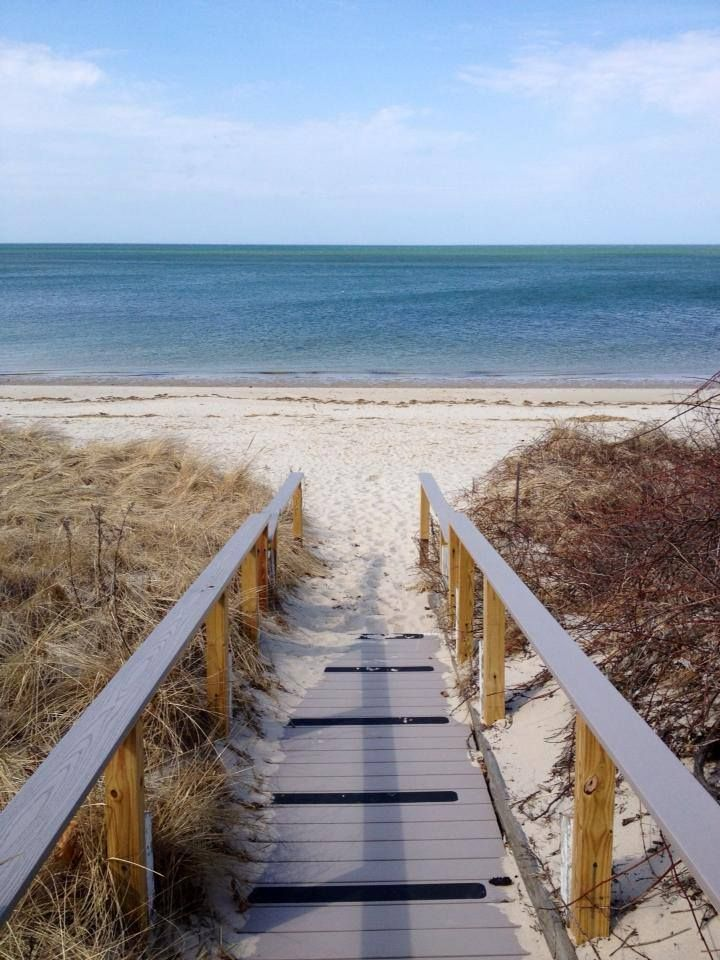 The beauty of a Brewster, Cape Cod beach on a spring day. Great photo