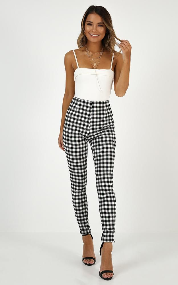 54e32e088d946 Business District Ankle Grazer Pant In Black Gingham in 2019 | Stuff ...