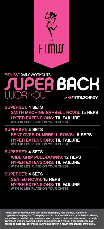 FitMiss Super Back Workout